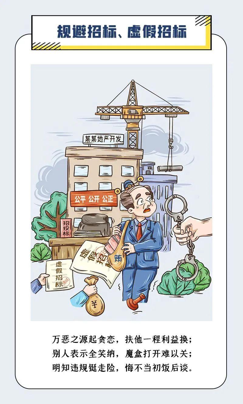 漫画说纪:工程招投标领域腐败和作风问题